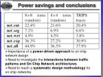 power savings and conclusions