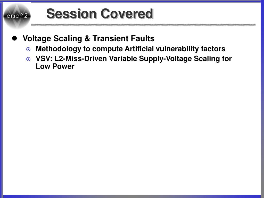 Session Covered