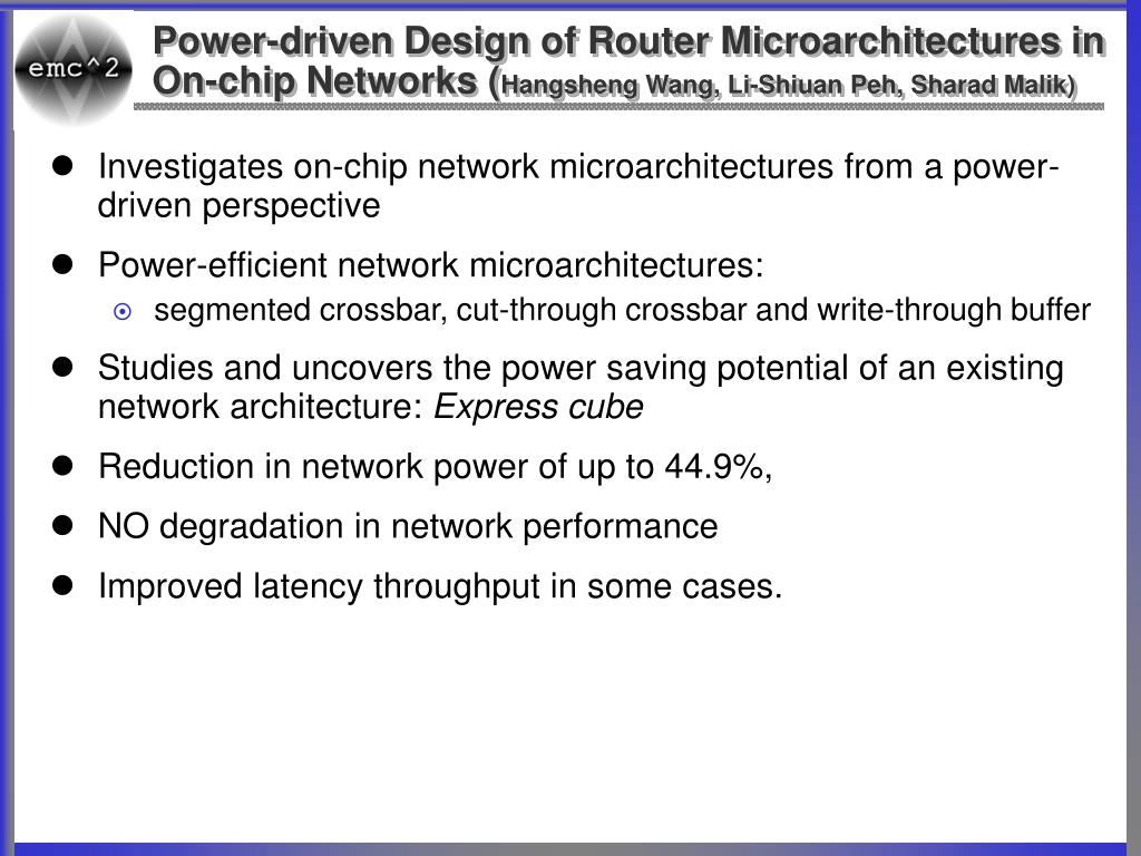 Power-driven Design of Router Microarchitectures in On-chip Networks (