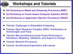 workshops and tutorials