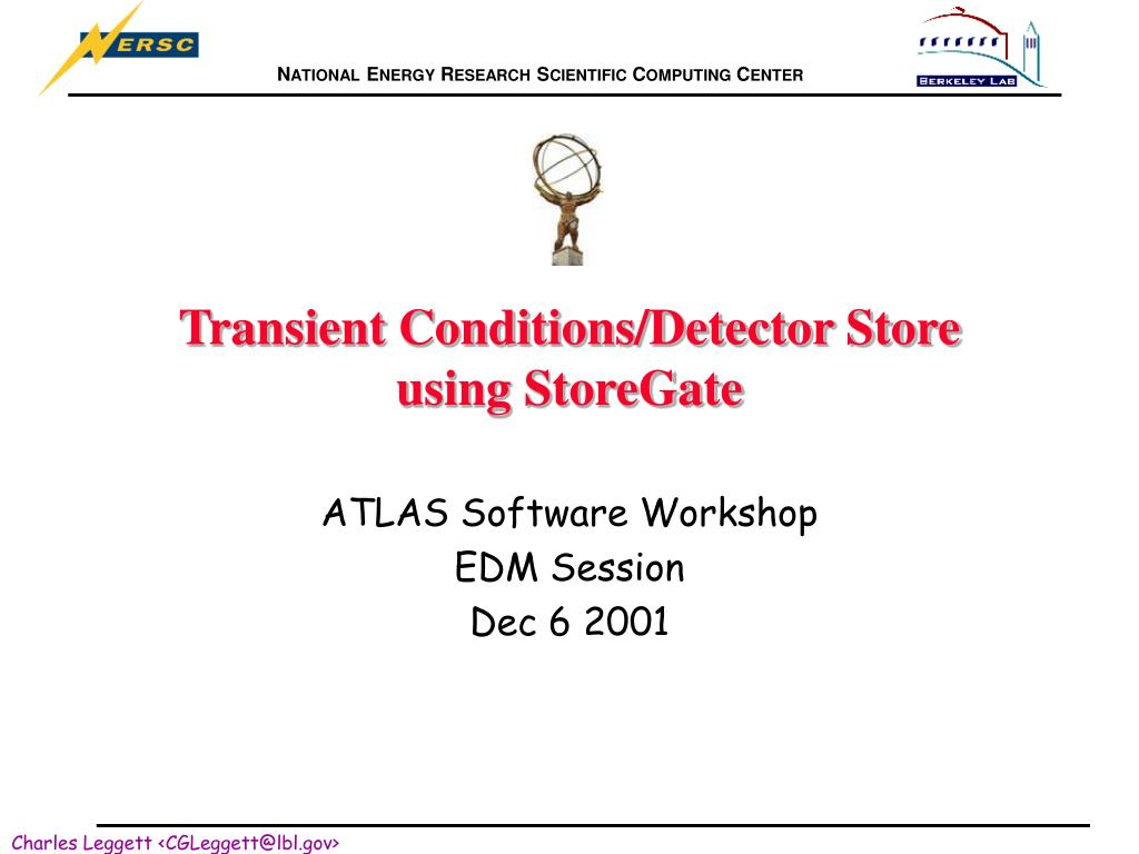 transient conditions detector store using storegate l.