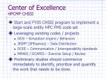 center of excellence hpcmp chssi