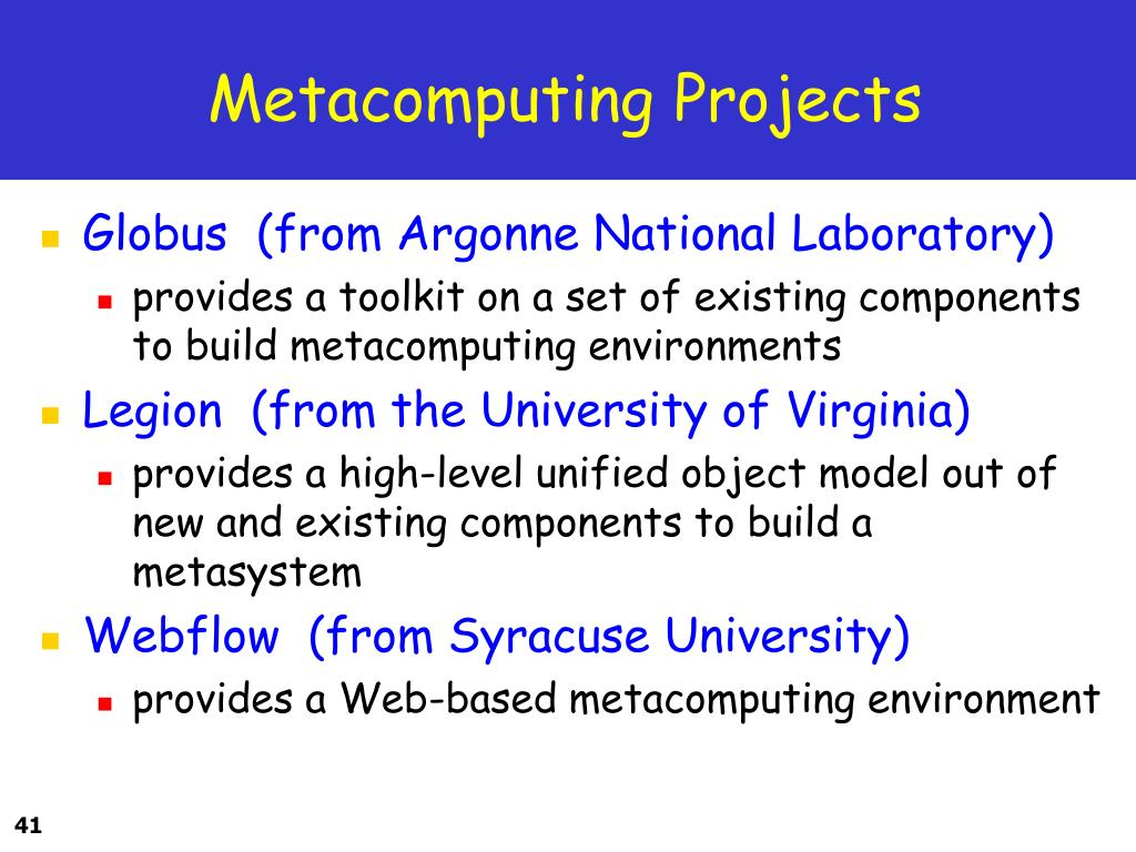Metacomputing Projects