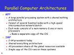parallel computer architectures6