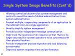 single system image benefits cont d
