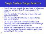 single system image benefits