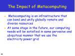 the impact of metacomputing