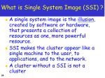 what is single system image ssi