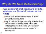 why do we need metacomputing