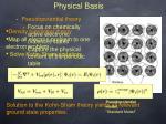 physical basis