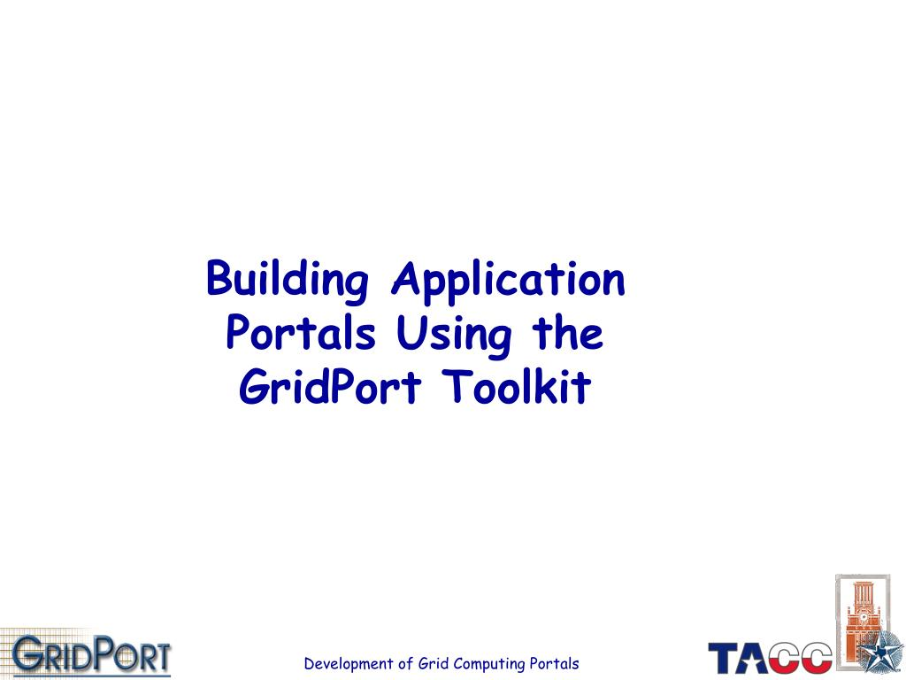 Building Application Portals Using the