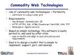 commodity web technologies