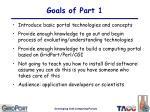 goals of part 1
