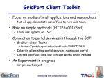 gridport client toolkit
