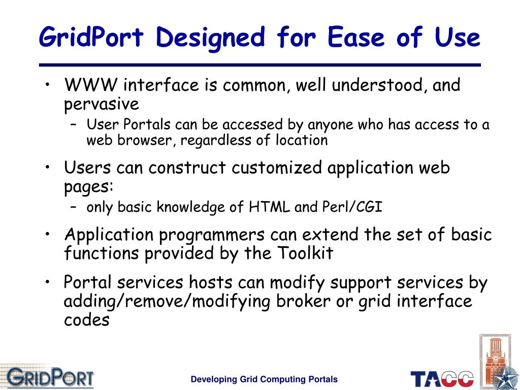 GridPort Designed for Ease of Use