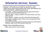 information services dynamic