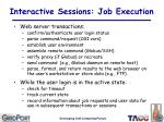 interactive sessions job execution