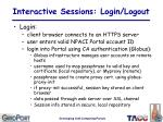 interactive sessions login logout