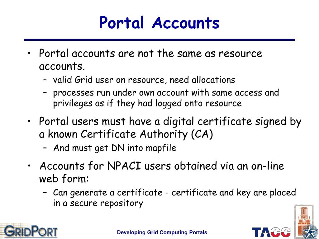 Portal Accounts