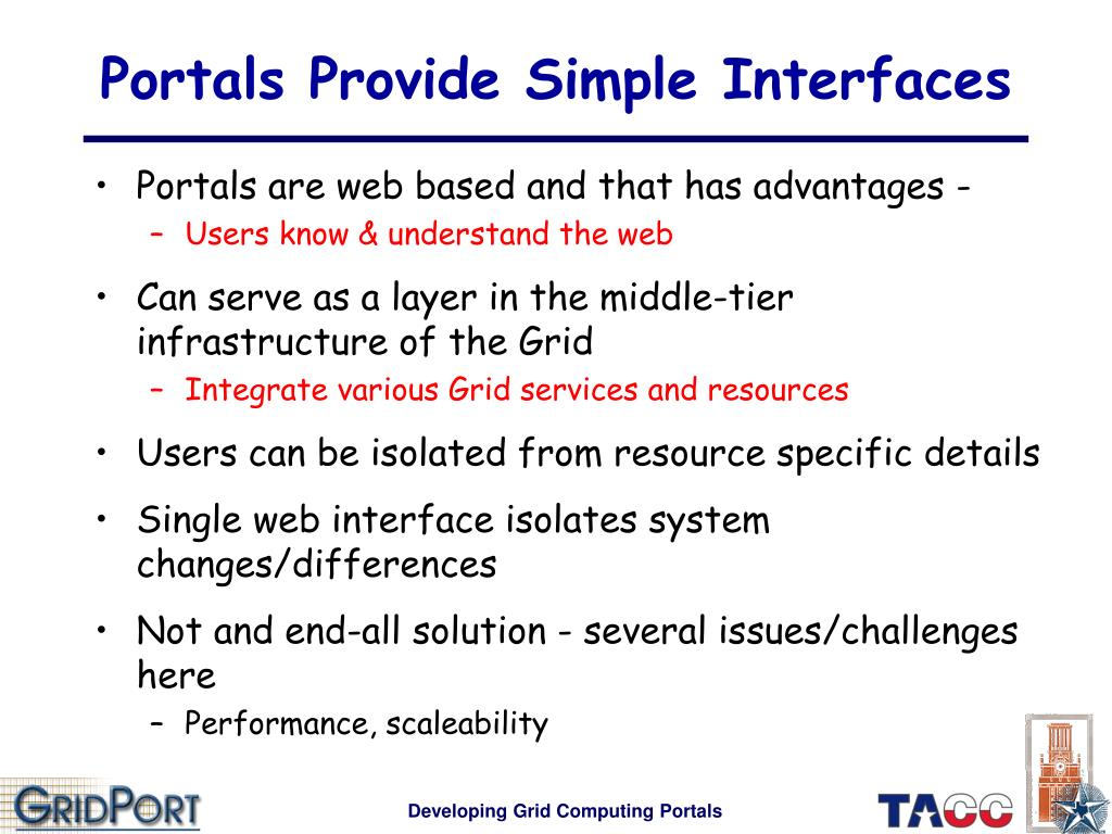Portals Provide Simple Interfaces