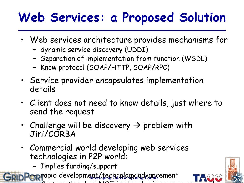 Web Services: a Proposed Solution