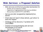 web services a proposed solution