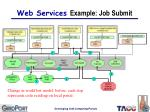 web services example job submit