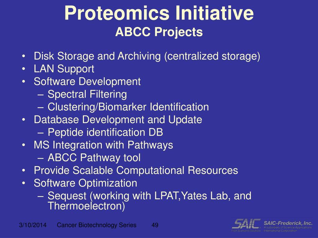 Proteomics Initiative