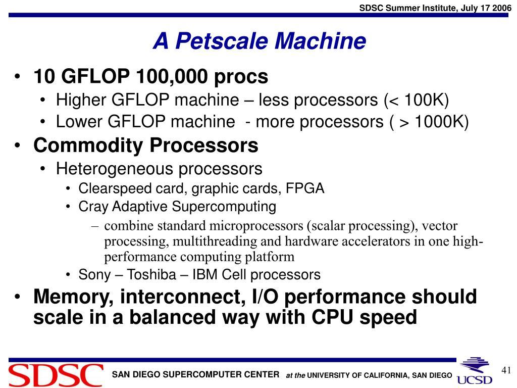 A Petscale Machine