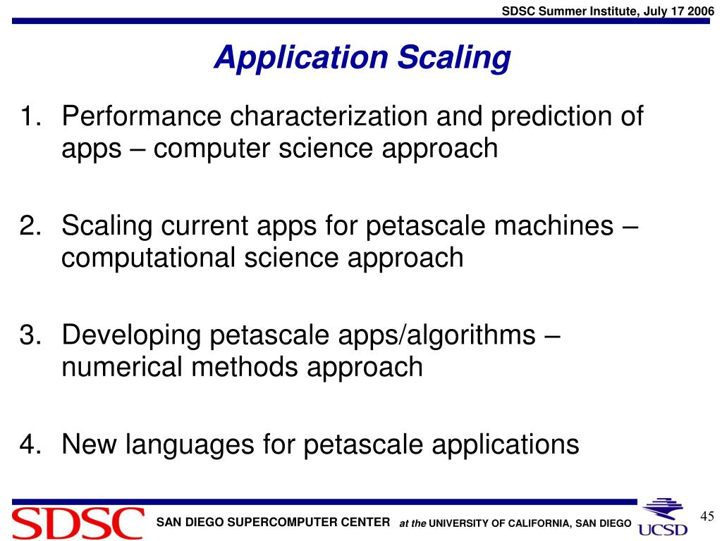 Application Scaling