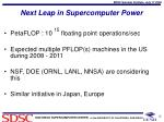 next leap in supercomputer power