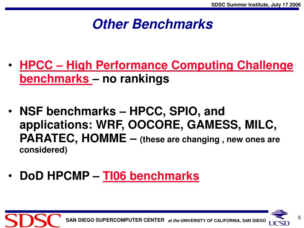 Other Benchmarks