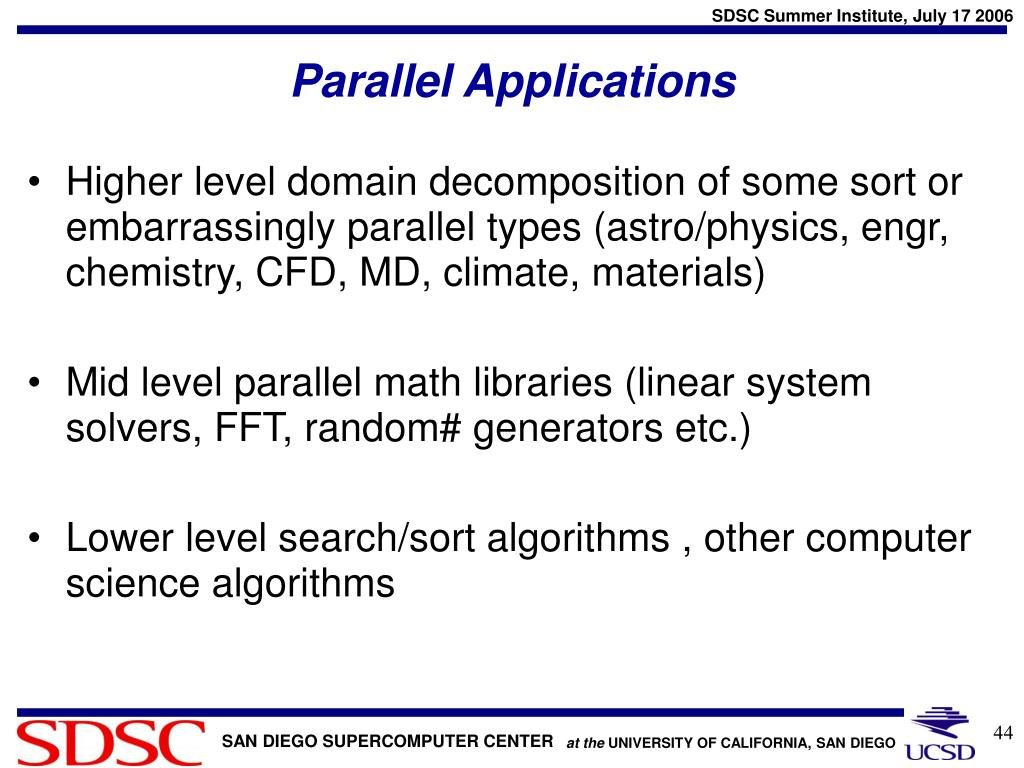 Parallel Applications