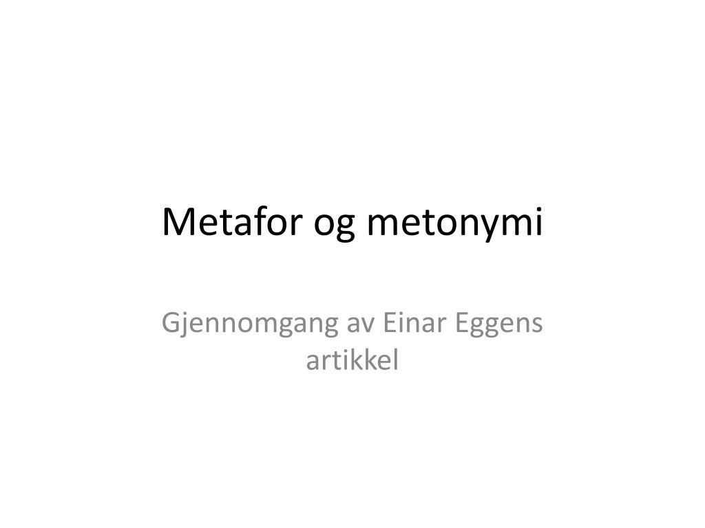 metafor og metonymi