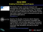 igrid 2002 enabling technologies and projects6