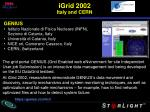 igrid 2002 italy and cern