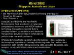 igrid 2002 singapore australia and japan