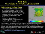 igrid 2002 usa canada the netherlands sweden and uk