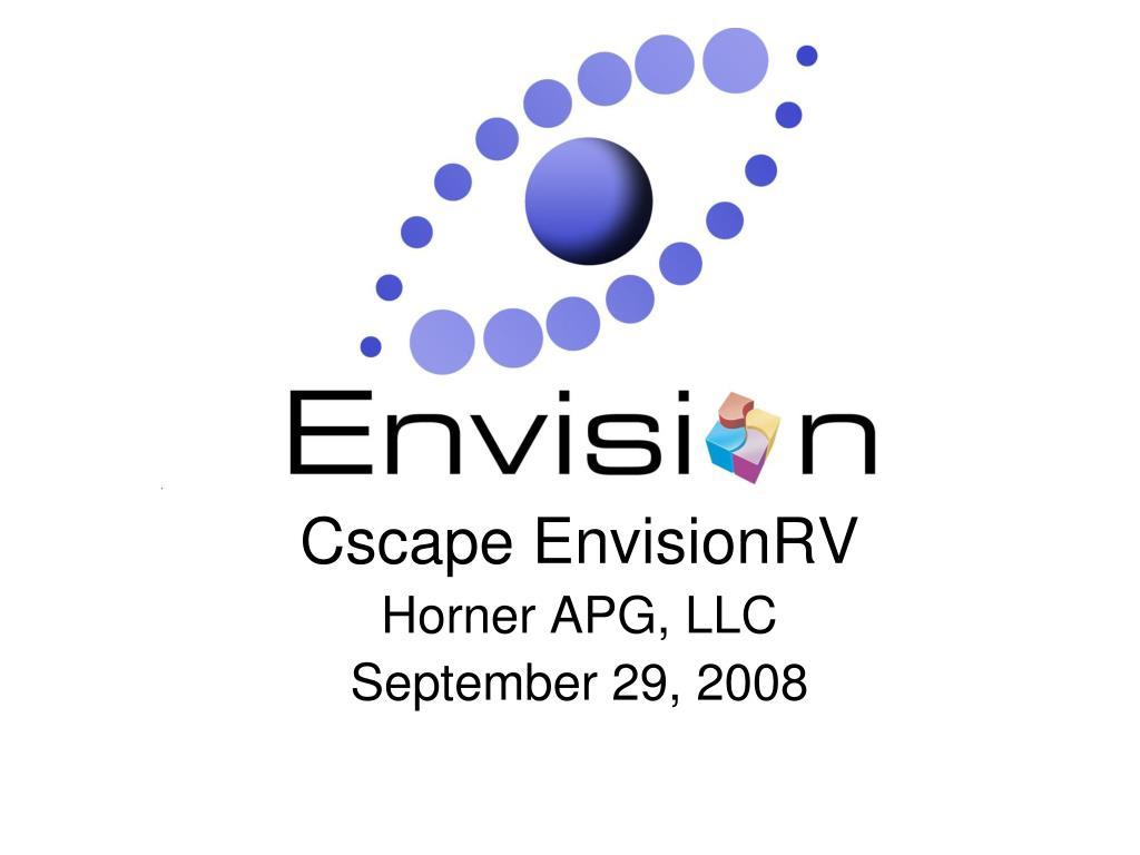 cscape envisionrv horner apg llc september 29 2008 l.