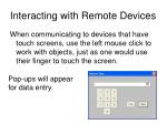 interacting with remote devices11