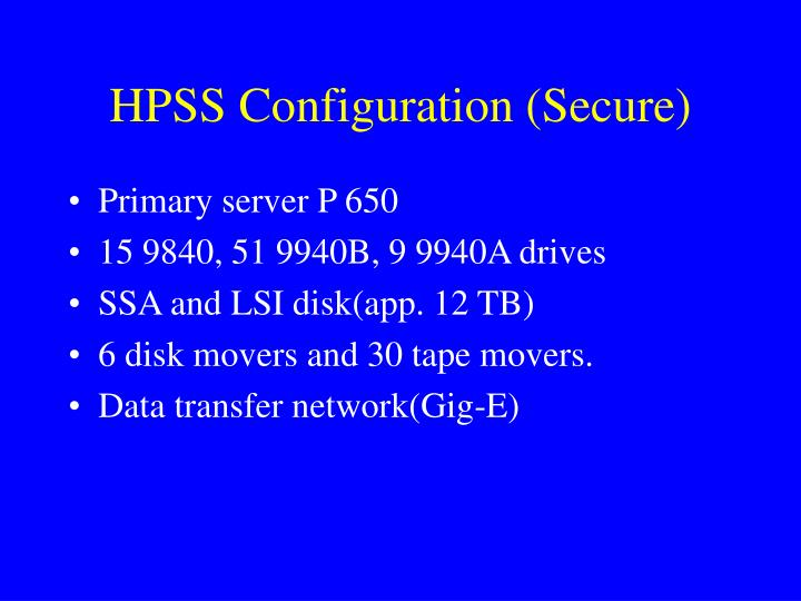 HPSS Configuration (Secure)