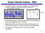 ocean climate indices nao