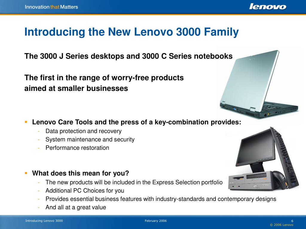 Introducing the New Lenovo 3000 Family