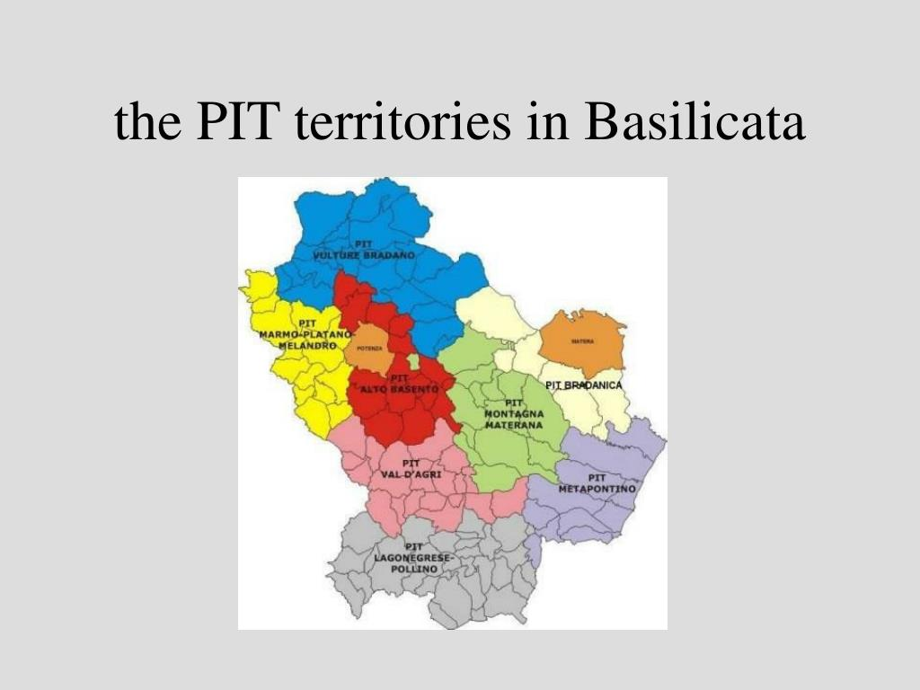 the PIT territories in Basilicata
