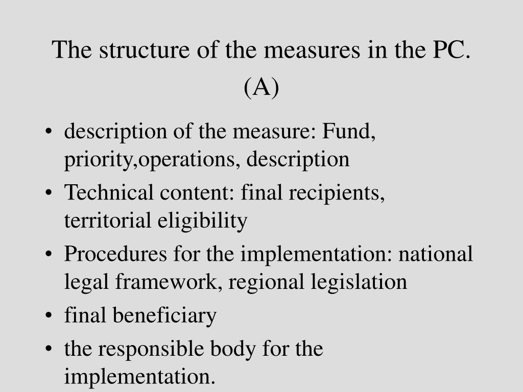 The structure of the measures in the PC. (A)
