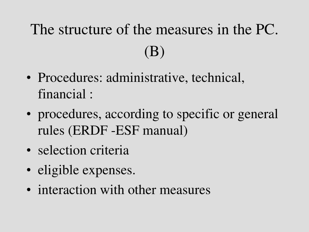 The structure of the measures in the PC. (B)