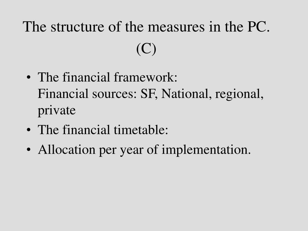 The structure of the measures in the PC. (C)