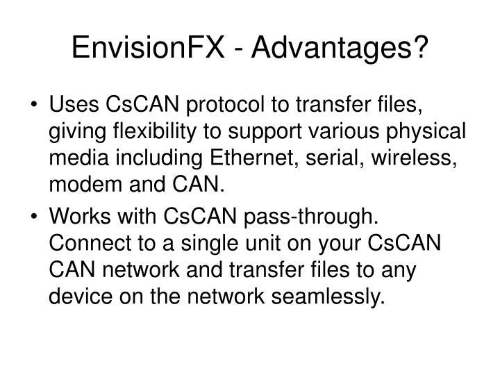 Envisionfx advantages