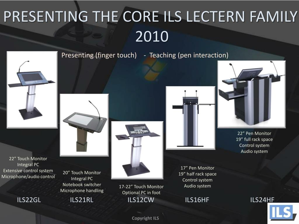PRESENTING THE CORE ILS LECTERN FAMILY