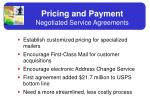 pricing and payment negotiated service agreements
